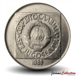 YOUGOSLAVIE - PIECE de 100 dinara - 1989 Km#134