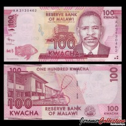 MALAWI - Billet de 100 Kwacha 2012