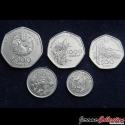 SAO TOMÉ-ET-PRINCIPE - SET / LOT de 5 PIECES de 100 250 500 1000 2000 Dobras - 1997
