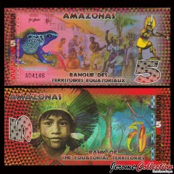 TERRITOIRES EQUATORIAUX - Billet de 5 Francs Equatoriaux- 2014