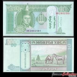 MONGOLIE - Billet de 10 Tögrög - 2014 P62h
