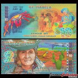 TERRITOIRES EQUATORIAUX - Billet de 10 Francs Equatoriaux- 2014