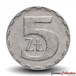 POLOGNE - PIECE de 5 Zlotych - 1990