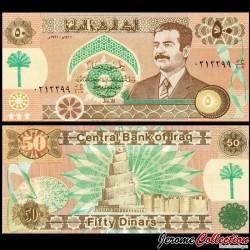 IRAK - Billet de 50 Dinars - Saddam Hussein - 1991