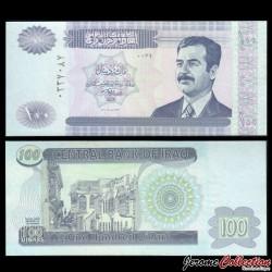 IRAK - Billet de 100 Dinars - Saddam Hussein - 2002