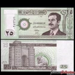 IRAK - Billet de 25 Dinars - 2001