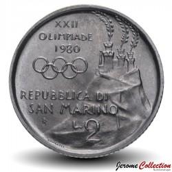 SAINT-MARIN - PIECE de 2 Lires - 1980