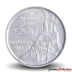SAINT-MARIN - PIECE de 10 Lires - 1980