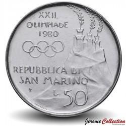 SAINT-MARIN - PIECE de 50 Lires - 1980