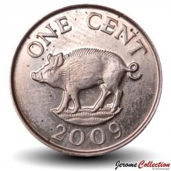 BERMUDES - PIECE de 1 Cent - Petit Sanglier - 2009 Km#107a