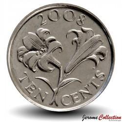 BERMUDES - PIECE de 10 Cents - Lys - 2008 Km#109