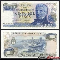 ARGENTINE - Billet de 5000 Pesos - 1981 P305b1