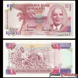 MALAWI - Billet de 1 Kwacha - 01.05.1992 P23b