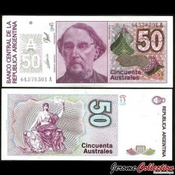 ARGENTINE - Billet de 50 Australes - 1989 P326b3