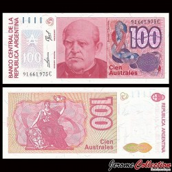 ARGENTINE - Billet de 100 Australes - 1989 P327c