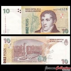 ARGENTINE - Billet de 10 Pesos -Général Manuel Belgrano - 2010 / 2011 P354a5
