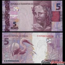 BRESIL - Billet de 5 Reais - 2010 P253d