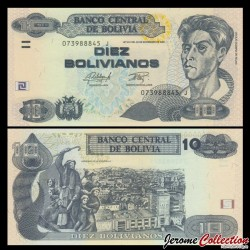 BOLIVIE - Billet de 10 Bolivianos - Peintre Cecilio Guzman de Rojas - 2015 P243a.1