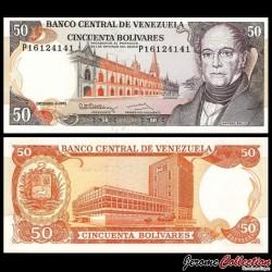 VENEZUELA - Billet de 50 Bolivares - Andrés Bello - 8.12.1992 P65d