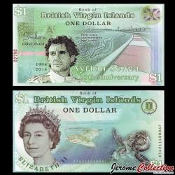 BRITISH VIRGIN ISLANDS - Billet de 1 DOLLAR - Ayrton Senna - 1994