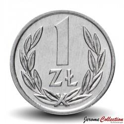 POLOGNE - PIECE de 1 Zloty - 1990 Y#49.3