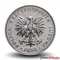 POLOGNE - PIECE de 1 Zloty - 1990