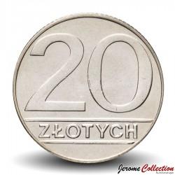 POLOGNE - PIECE de 20 Zlotych - 1990 Y#153.2