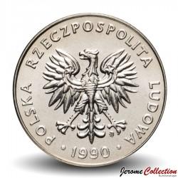 POLOGNE - PIECE de 20 Zlotych - 1990