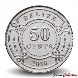 BELIZE - PIECE de 50 Cents - 2010 Km#37