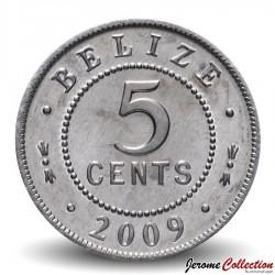 BELIZE - PIECE de 5 Cents - 2009 Km#34a