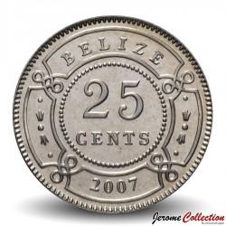 BELIZE - PIECE de 25 Cents - 2007 Km#36