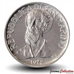 SAINT-MARIN - PIECE de 1 Lire - Portrait de Sanctus Marinus - 1972