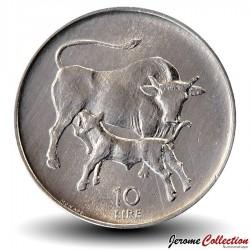 SAINT-MARIN - PIECE de 10 Lires - Une vache et son veau - 1972 Km#17