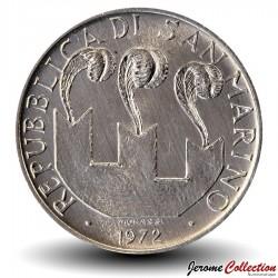 SAINT-MARIN - PIECE de 10 Lires - Portrait de Sanctus Marinus - 1972