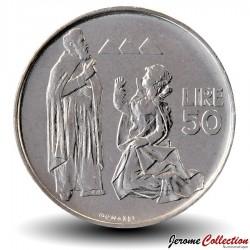 SAINT-MARIN - PIECE de 50 Lires - Portrait de Sanctus Marinus - 1972 Km#19