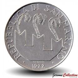 SAINT-MARIN - PIECE de 50 Lires - Portrait de Sanctus Marinus - 1972