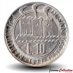 SAINT-MARIN - PIECE de 10 Lires - 1977
