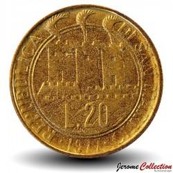 SAINT-MARIN - PIECE de 20 Lires - 1977