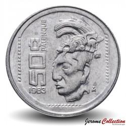 MEXIQUE - PIECE de 50 Pesos - Indien palenque - 1983 Km#492