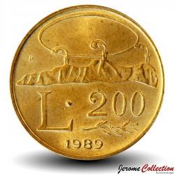 SAINT-MARIN - PIECE de 200 Lires - 1989