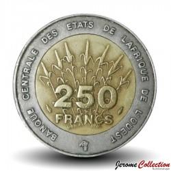 ETATS DE L'AFRIQUE DE L'OUEST - PIECE de 250 FRANCS - 1992 - BCEAO Km#13