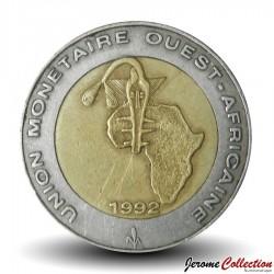 ETATS DE L'AFRIQUE DE L'OUEST - PIECE de 250 FRANCS - 1992 - BCEAO