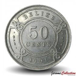 BELIZE - PIECE de 50 Cents - 1991 Km#37