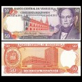 VENEZUELA - Billet de 50 Bolivares - Andrés Bello - 5.6.1995