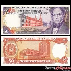 VENEZUELA - Billet de 50 Bolivares - Andrés Bello - 5.6.1995 P65e