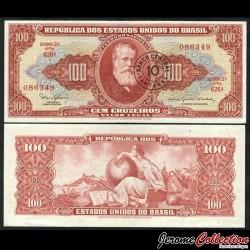 BRESIL - Billet de 10 Centavos - Empereur Pierre II - 1966 P185a