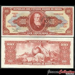 BRESIL - Billet de 10 Centavos - Empereur Pierre II - 1966