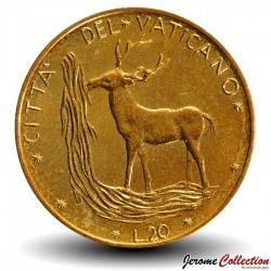 VATICAN - PIECE de 20 Lires - Cerf rouge - 1975 Km#120