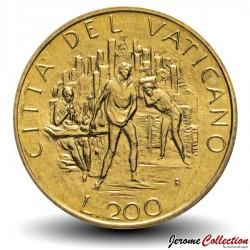 VATICAN - PIECE de 200 Lires - 1989 Km#217