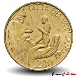 VATICAN - PIECE de 200 Lires - 1988
